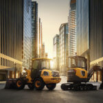 Packshot Big City Volvo Construction Equipment ECR25 Electric an